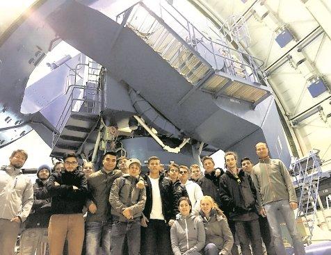 Kommen in der Welt herum: Sindelfinger Schüler besuchen die spanische Plataforma, auf der solarthermische Kraftwerke erprobt werden ...  GB-Fotos: gb