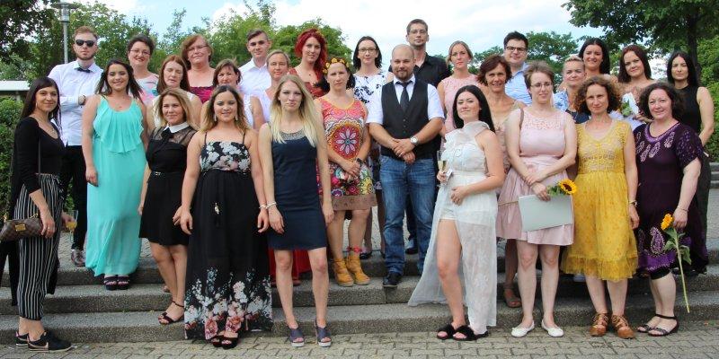 36 Absolventen der Hilde-Domin-Schule hatten Grund zu feiern  GB-Foto: gb