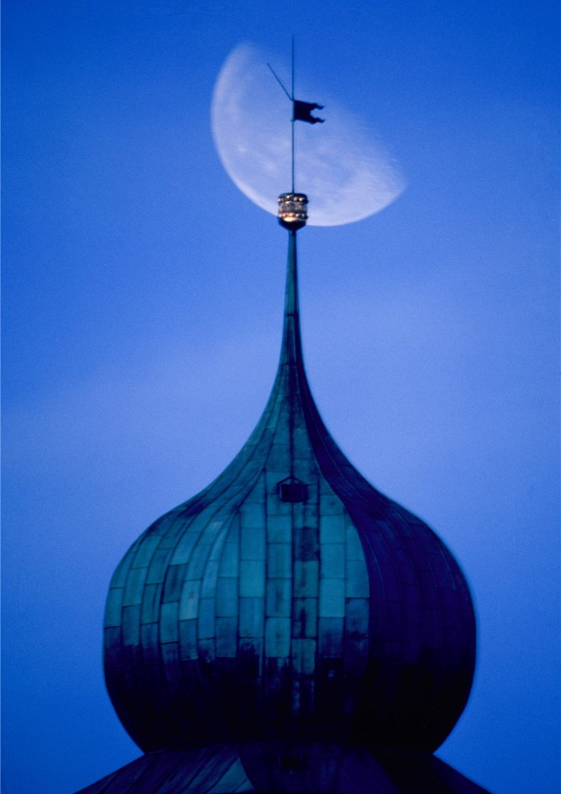 Eines der Bilder im Buch: Der Herrenberger Zwiebelturm  GB-Foto: Anton Andor