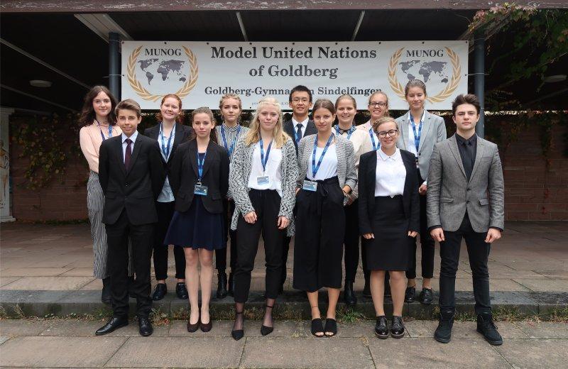 Die AGH-Delegierten bei MUNOG  GB-Foto: gb