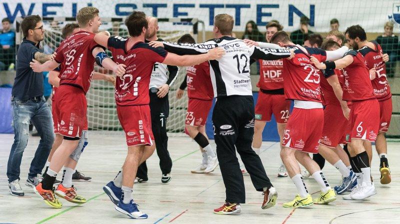 Die SG H2Ku Herrenberg nimmt den Schwung aus dem gewonnenen Spitzenspiel gegen Weilstetten mit in die heutige Partie  GB-Foto: Eibner