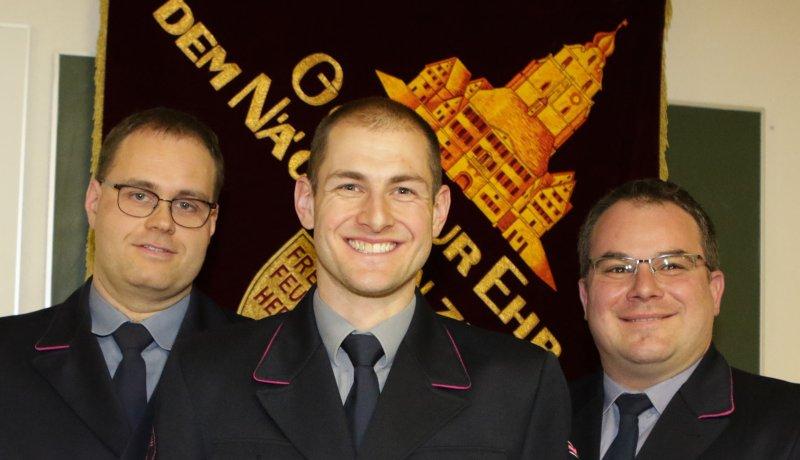 Vorsitzender Martin Bartholomä (Mitte) steht an der Spitze der Abteilung, seine Stellvertreter sind Michael Kegreiß (links) und Matthias Wochele  GB-Foto: Bäuerle