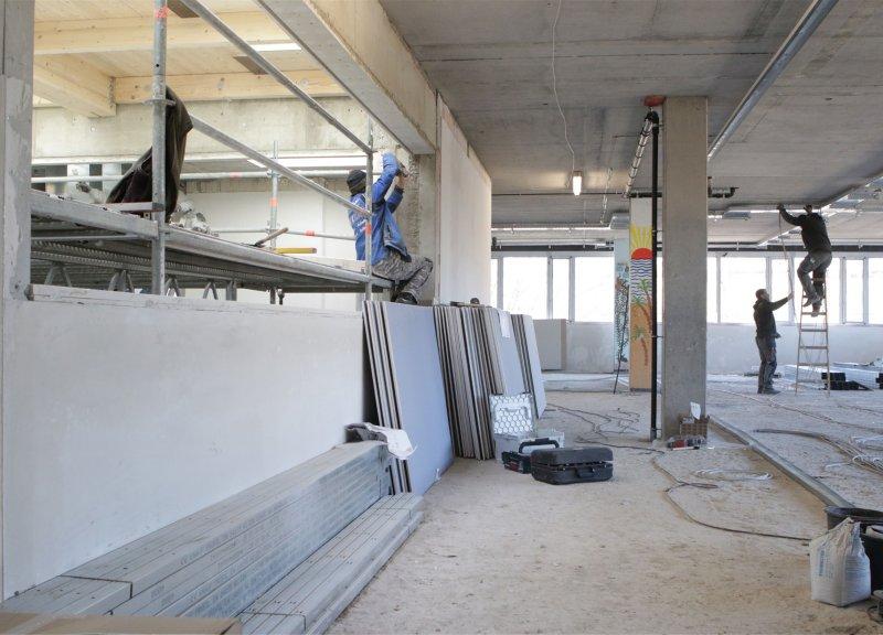 Großbaustelle: Bis zum Herbst soll der Um- und Neubau der Gemeinschaftsschule abgeschlossen sein GB-Foto: Bäuerle