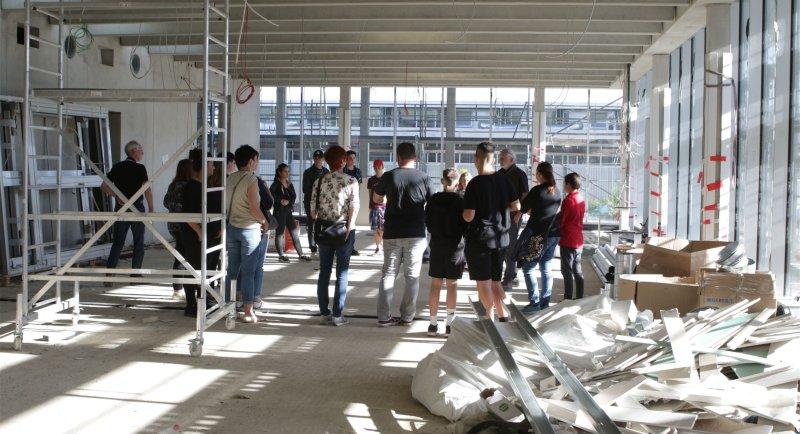 Lichtdurchflutet: Der Bau der Nebringer Gemeinschaftsschule ist in vollem Gange  GB-Foto: Bäuerle