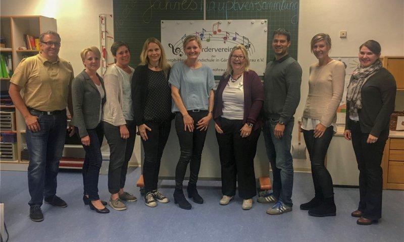 Die neue Vorstandschaft des Grundschul-Fördervereins  GB-Foto: gb