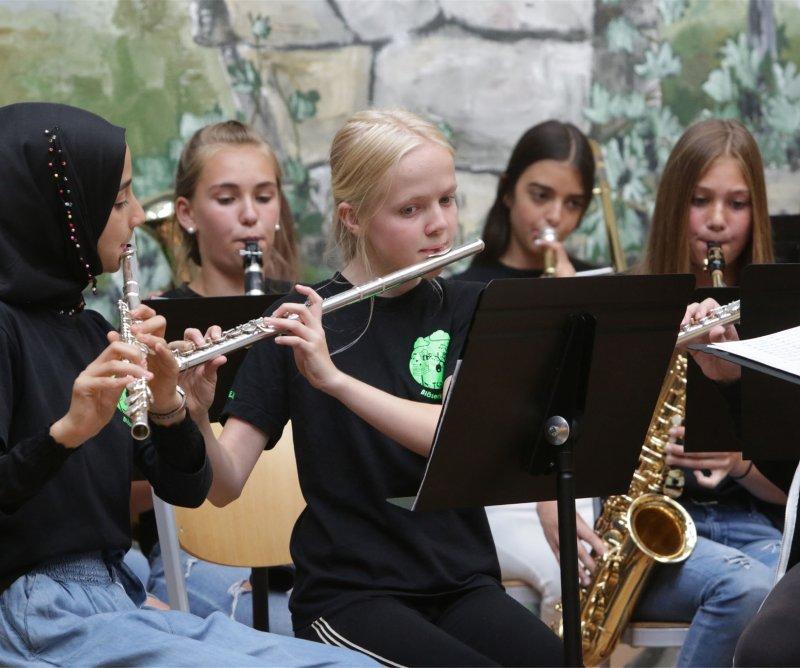 Junge Musikanten: Schüler der Theodor-Schüz-Realschule GB-Foto: Bäuerle