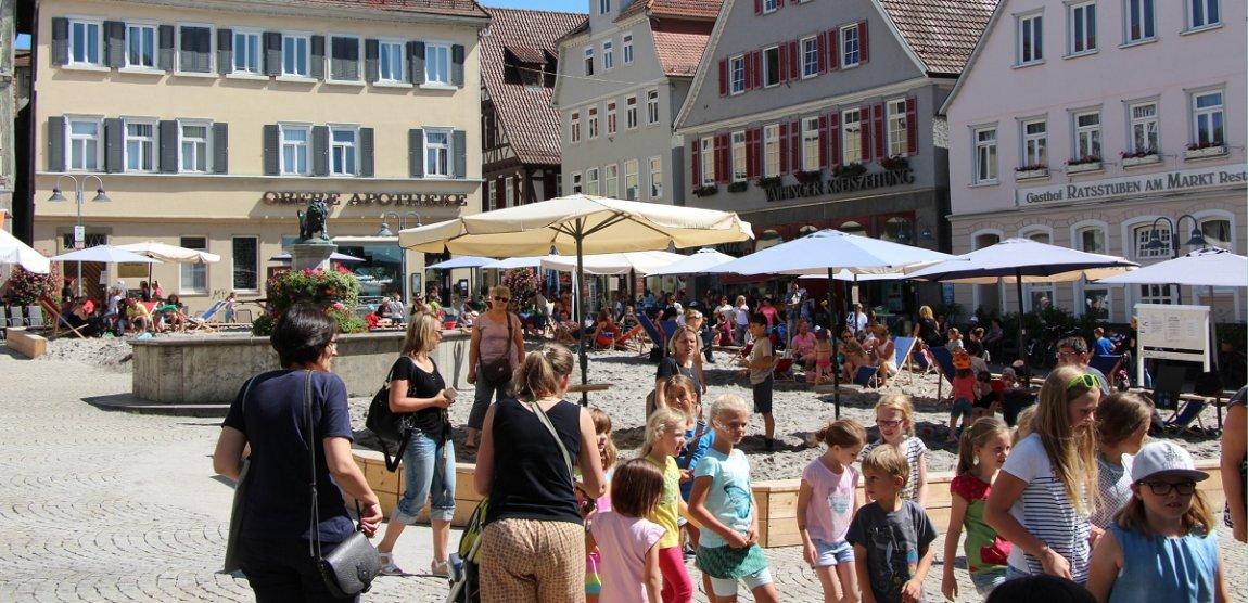 Strandsommer soll Marktplatz in Weil der Stadt beleben ...